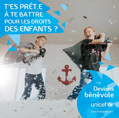 Deviens bénévole avec UNICEF !